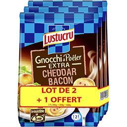 Lustucru Gnocchi à poêler extra cheddar bacon le sachet de 280 g