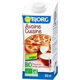 Avoine cuisine BIO, la brique de 200 ml,BJORG,Avoine cuisine bio200 ml