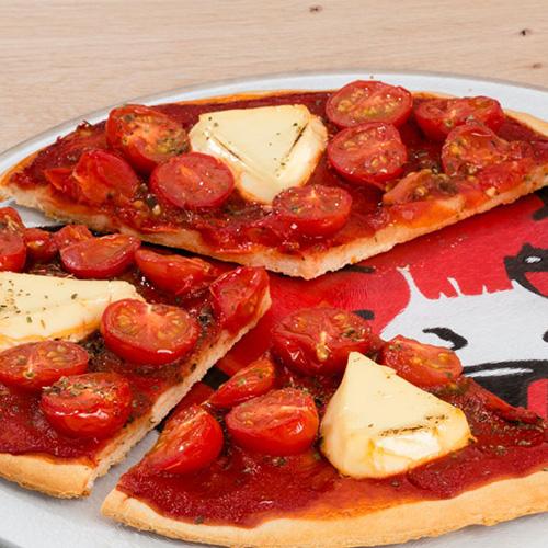 Pizza aux deux tomates La vache qui Rit
