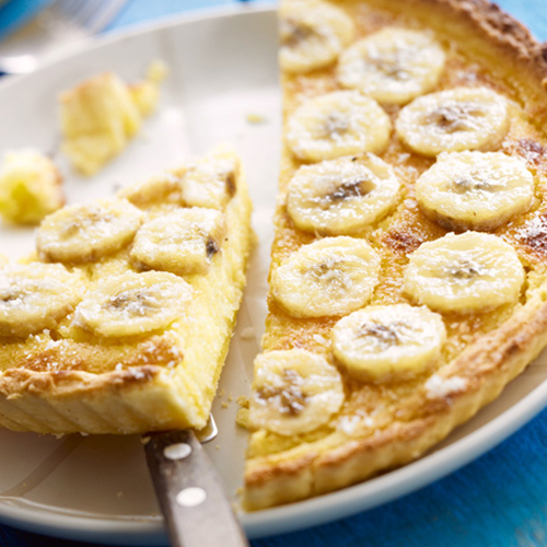 Tarte banane et noix de coco