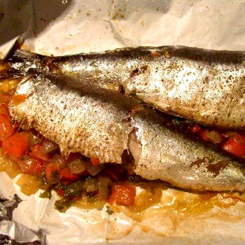 Papillotes de sardines à la provençale