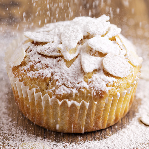 Muffin aux poires et aux amandes