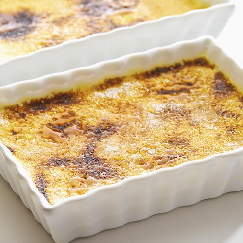 Crème brûlée au chorizo et tomates confites