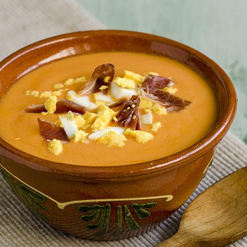 Salmorejo (soupe de tomates à l'ail et mie de pain)