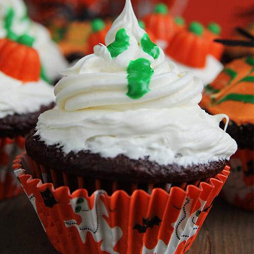Cupcakes fantômes au chocolat