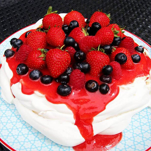 Pavlova aux fruits rouges chychy71