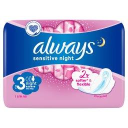 Always Ultra Sensitive Night Podpaski ze skrzydełkam...