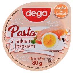 Pasta z jajkiem i łososiem
