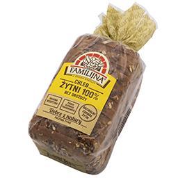 Chleb żytni 100% bez drożdży 520g