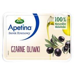 Serek kremowy czarne oliwki