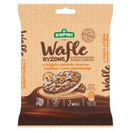 Wafle ryżowe z belgijską czekoladą deserową i kawałk...