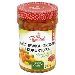 Marchewka groszek i kukurydza