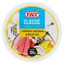 Classic Sałatka surimi z ananasem i warzywami w biał...