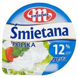 Śmietana Polska gęsta 12%