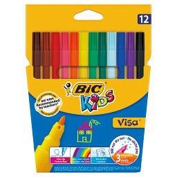 Kids Visa Kolorowe flamastry 12 sztuk
