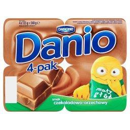 Danio Serek homogenizowany o smaku czekoladowo-orzechowym 540 g (4 sztuki)