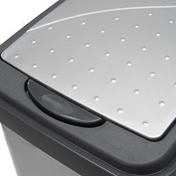 Pojemnik na śmieci Slim-Bin 25 l srebrny 39,5 x 24 x...
