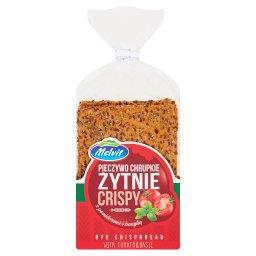 Crispy Pieczywo chrupkie żytnie z pomidorami i bazyl...