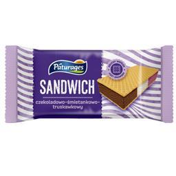 Lody sandwich o smaku truskawkowo-waniliowo-czekolad...