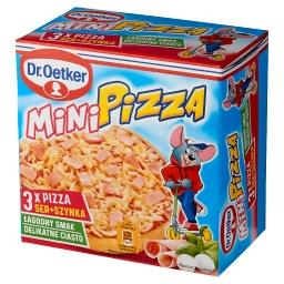 Mini pizza ser + szynka  (3 sztuki)