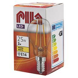 Żarówka dekoracyjna LED 2W =25W E14 kulka 2700K retr...