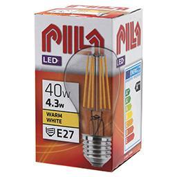 Żarówka dekoracyjna LED 4,3W =40W E27 A60 2700K retr...