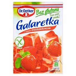 Galaretka bez glutenu o smaku truskawkowym