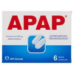 Lek przeciwbólowy przeciwgorączkowy 6 sztuk