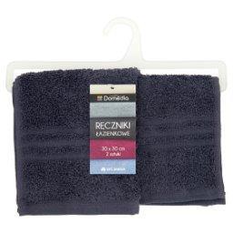Ręczniki łazienkowe 30 cm x 30 cm grafitowe 2 sztuki