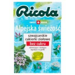 Szwajcarskie cukierki ziołowe alpejska świeżość