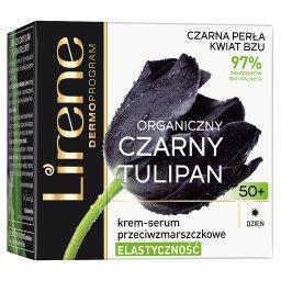 Organiczny czarny tulipan 50+ Krem-serum przeciwzmar...