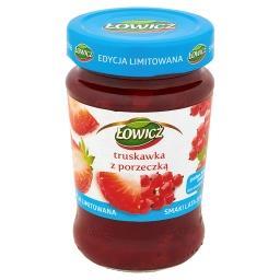 Dżem z truskawek i czerwonych porzeczek niskosłodzony
