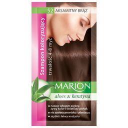 Szampon koloryzujący Marion 4-8 myć, Aksamitny brąz 52