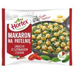 Makaron na patelnię gnocchi ze szpinakiem i sosem