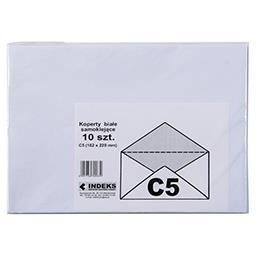 Koperta C5 samoklejąca biała 10 szt.