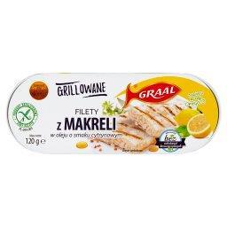 Grillowane filety z makreli w oleju o smaku cytrynowym