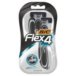 Flex 4 Jednoczęściowe maszynki do golenia 3 sztuki