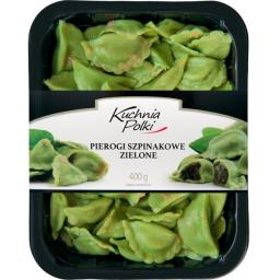 Pierogi szpinakowe zielone 400g