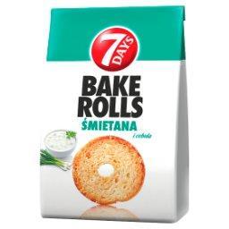 Bake Rolls Chrupki chlebowe o smaku śmietanowo-cebul...