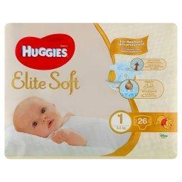Elite Soft Pieluchy 1 3-5 kg 26 sztuk