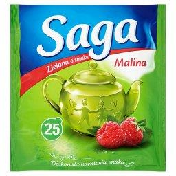 Herbata zielona o smaku malina  (25 torebek)