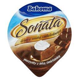 Sonata Deser o smaku czekoladowym puszysty z bitą śmietanką