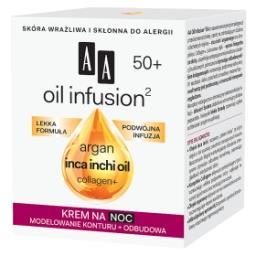 Oil Infusion2 50+ krem na noc modelowanie konturu + odbudowa 50 ml