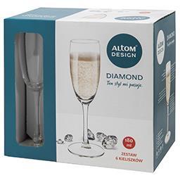 Kieliszki do szampana 180ml kpl. 6szt