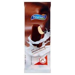 Lody smak śmietankowy w polewie kakaowej