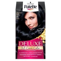 Deluxe Oil-Care Color Farba do włosów granatowa czerń 1-1 (909)