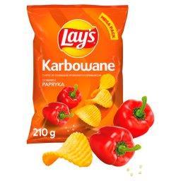 Chipsy ziemniaczane karbowane o smaku papryki