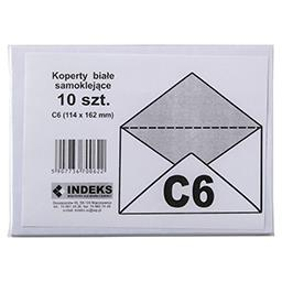 Koperta C6 samoklejąca biała 10 szt.