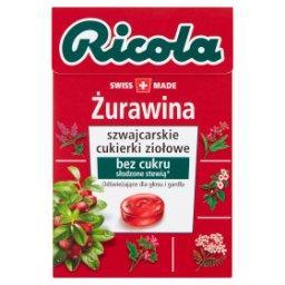 Szwajcarskie cukierki ziołowe żurawina