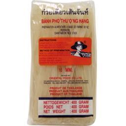 Makaron ryżowy 10mm, bez glutenu 400 g